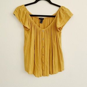 Forever 21 Gold Blouse Small